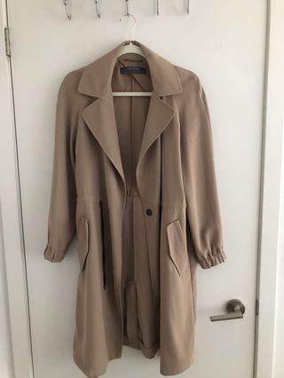 Zara Crepe Trench Coat