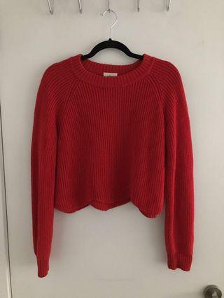 Wilfred Sardou scalloped sweater from Aritzia