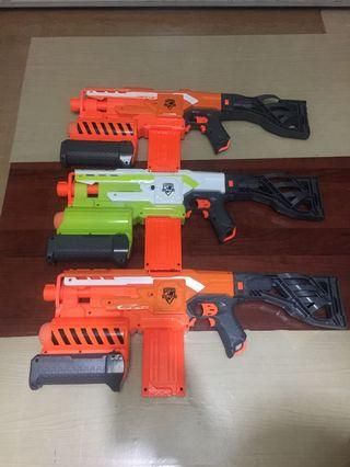 Nerf Demolisher trio