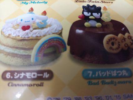 sanrio 生日蛋糕造型小擺設,XO , CINAMORROL
