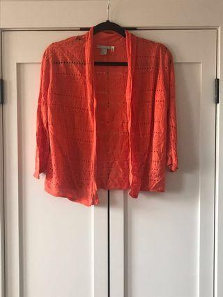Red cardigan, H&M, Size S