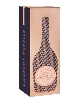 🚚 Laurent Perrier Rosé Champagne w Monogram Tin Gift Box