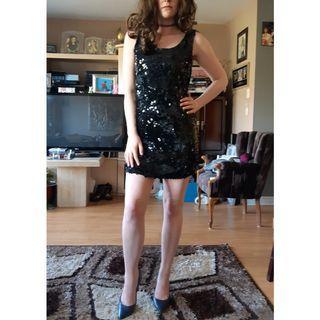 Sequin Flapper Dress S/M