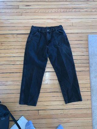 Black High Waisted Vintage Jeans