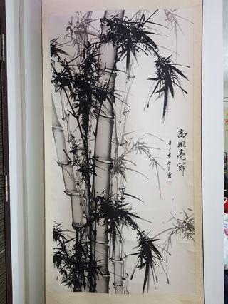 Bamboo brush painting