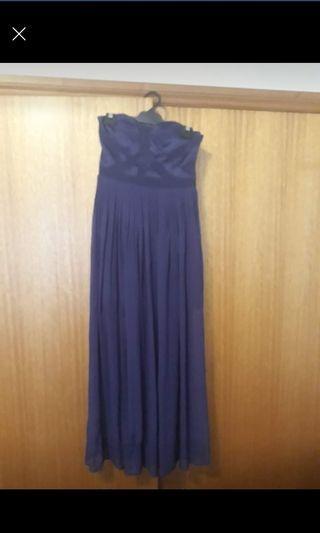 Purple dress silk