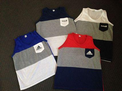 Boys Hurley and adidas singlets