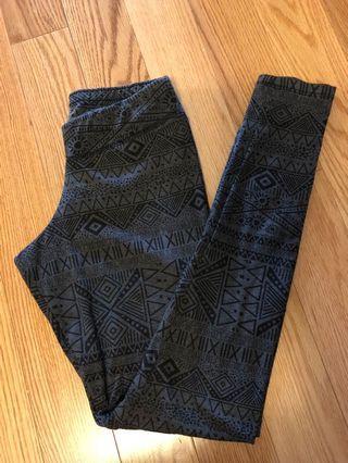 Garage Patterned Leggings (Size XS)