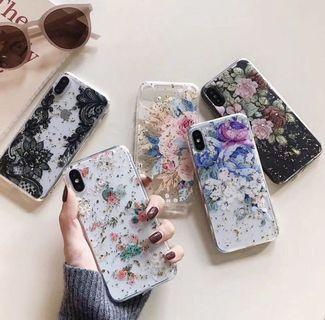 Transparent Flower Phone Case