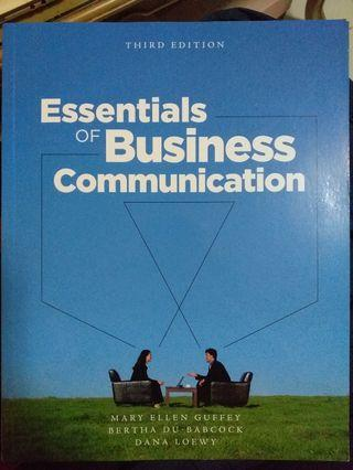 Essentials of Business Communication (3rd Edition)