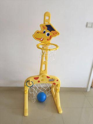 🚚 Kids' 3-in-1 Basketball, Football n hook stand