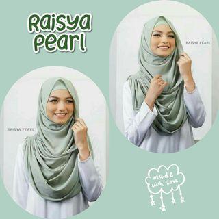 Raisya Pearl Instant Shawl Hijab Tudung Muslimah