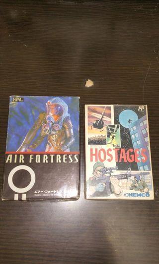 日本原裝罕有飛機射擊遊戲兩盒,齊說明書。