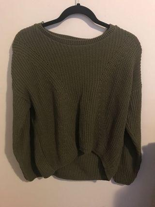 Green missguided sweater