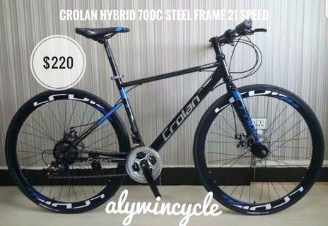 4 colors Crolan hybrid 700c