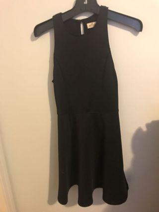 Black skater dress with keyhole back