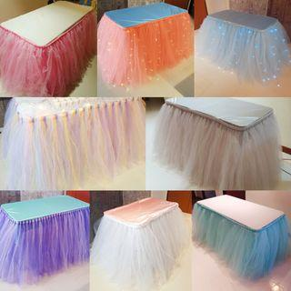 [RENTAL] Table Tutu Skirting - Dessert Table