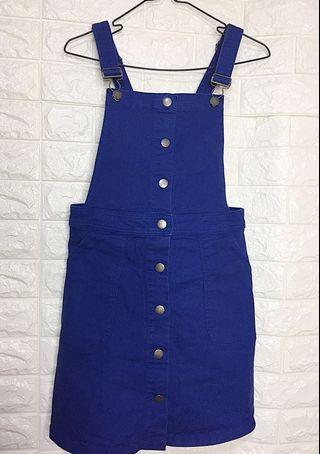 H&M • Blue Denim Jumpsuit Skirt