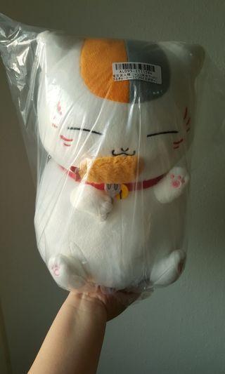 "(Authentic) Natsume's Book of Friends - Nyanko Sensei ""I Love Ebi-furai"" Big Round Plush #endgameyourexcess"