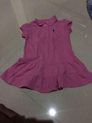 Baju Polo Anak Pink