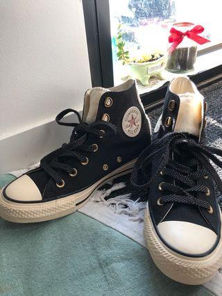 Sample Black Converse Fluffy Chuck Taylor All Star High Top