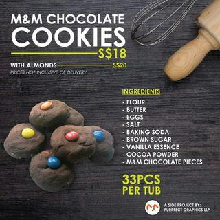 🚚 M&M Chocolate Cookies