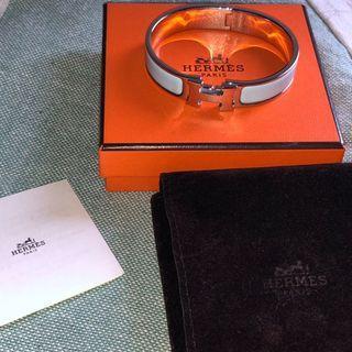 Hermès Clic Clac H PM bracelet in blue chardon