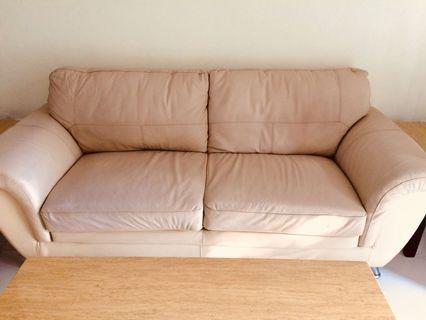 Sofa set: sofa 2+1, 1 long table, 2 meja pojok