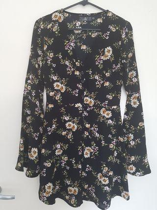 Missguided Floral Dress - Size 6
