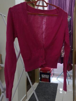 Kiko Girl Cardigan - Dark Pink #Rayathon50