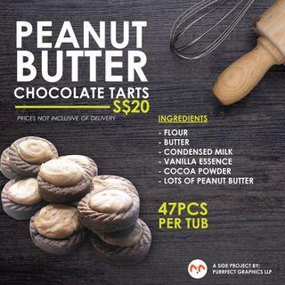 🚚 Peanut Butter Chocolate Tarts