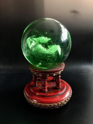 "4.5"" Green Crystal Ball #EndgameYourExcess"