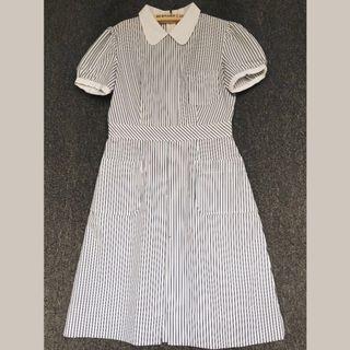 日本製 復古海軍風⚓️古著短袖洋裝