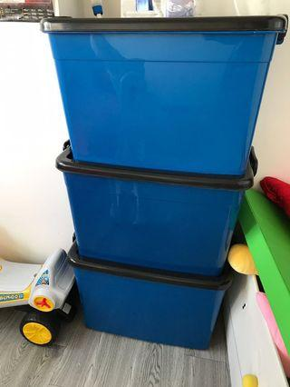 Extra Large Storage Container with Lid (Stackable)