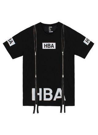 Hood By Air HBA Box Logo Double Zipper Tee #APR75
