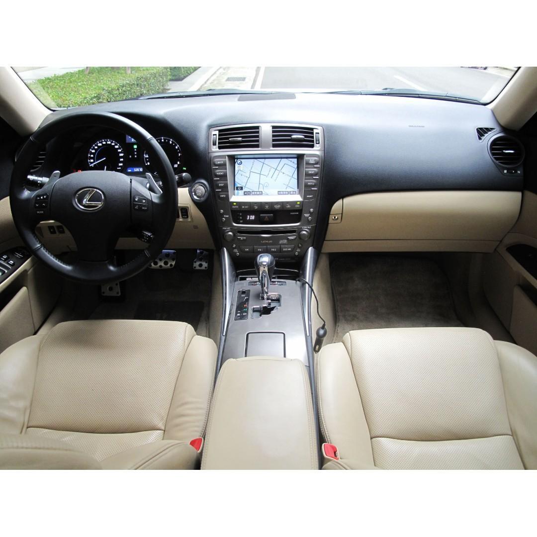 08年樣式 LEXUS IS250 一手車 里程保證只跑五萬 頂級NAVI影音6666