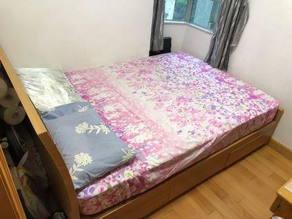9成新床架連雅蘭床褥