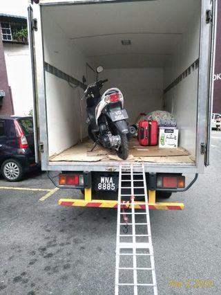 Perkhidmatan penundaan motosikal dam pengangkutan barang semuat hilux dan lori 1tan.
