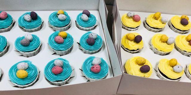 Eggy cupcakes