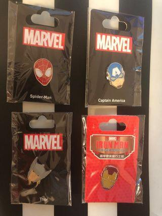 Marvel Iron man Thro Spider Man Captain America