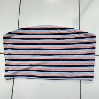 Garage Striped Cropped Tube Top