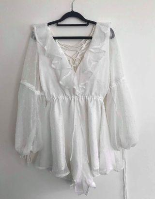 White playsuit size S