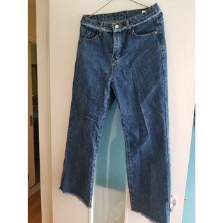🈹直腳牛仔褲 blue loose pin jeans 2019 31 size