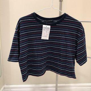BNWT Brandy Melville Striped Cropped Top