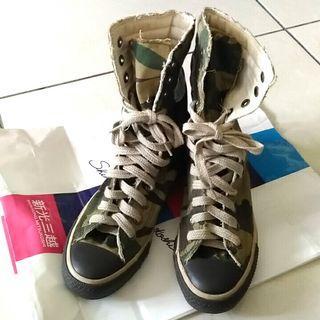 All star 迷彩帆布筒靴
