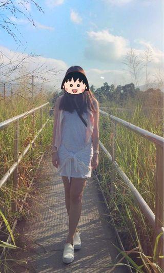 Zara 白色 背心短裙 one piece 小清新