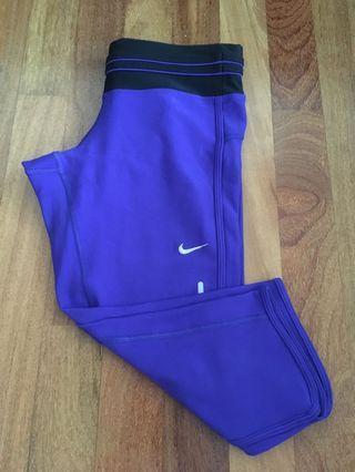 Size XS Nike sport tights purple