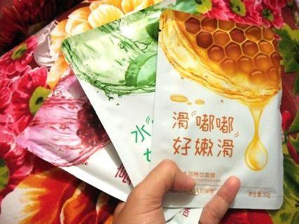 Mask sheet bioaqua madu pomegranate aloe /masker wajah