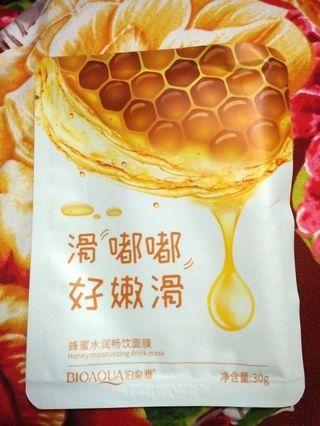 Mask sheet /masker wajah buah madu bioaqua