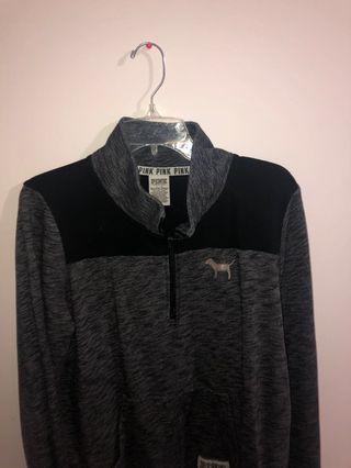 VS PINK half zip up sweatshirt
